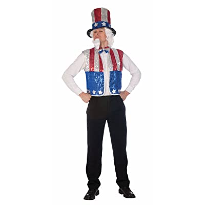 Forum Novelties Patriotic Party Sequin Uncle Sam Costume Kit: Toys & Games
