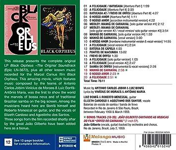 Black Orpheus W/ Luiz Bonfa: Antonio Carlos Jobim: Amazon.es: Música