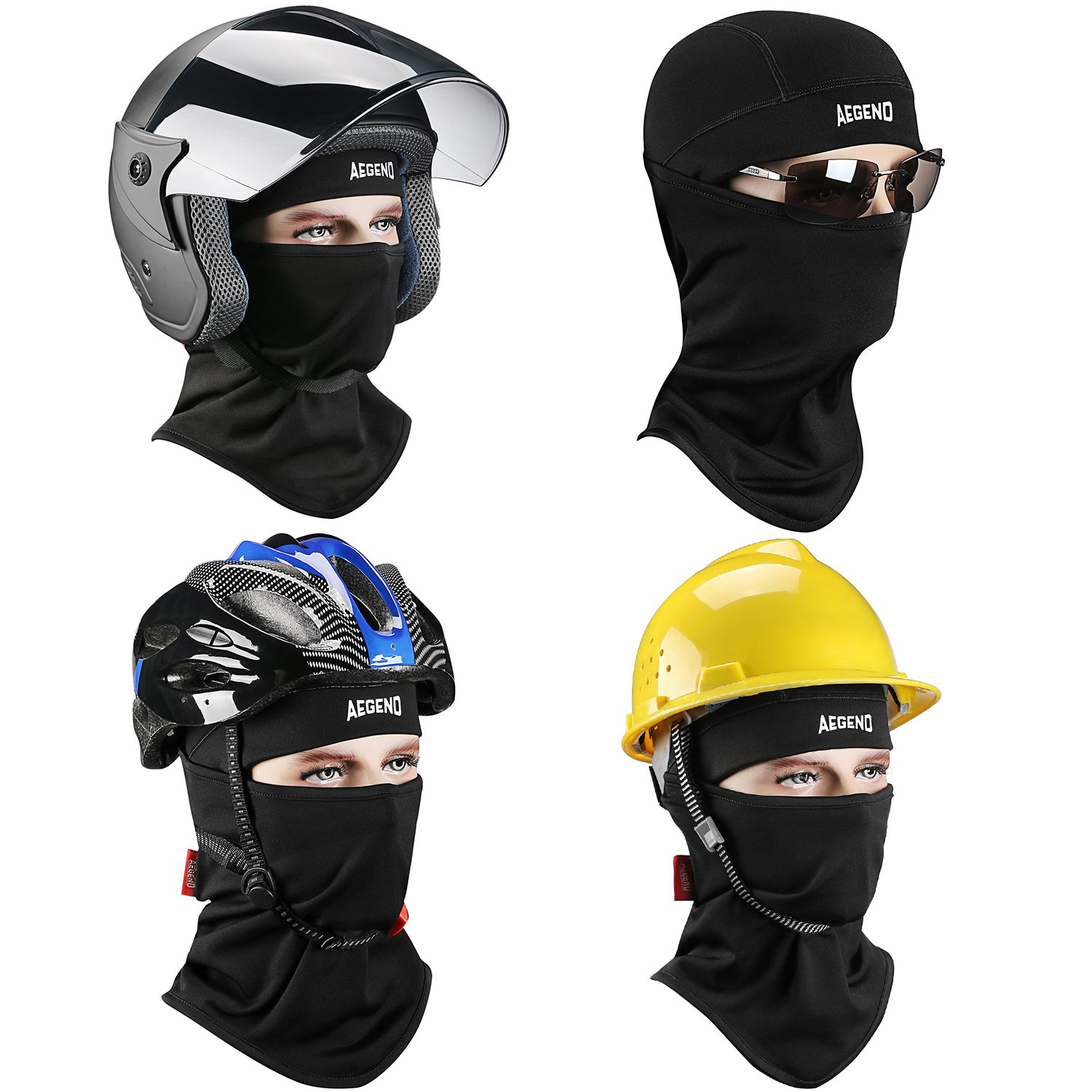 Full face mask neck warmer hood balaclava outdoor winter sports hats - Amazon Com Balaclava Aegend Ski Face Mask Polyester Fleece For Women Men Youth Tactical Balaclava Hood For Motorcycle Snowboard Cycling Outdoors In Winter