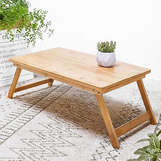 Mesa plegable Leqi portátil portátil escritorio mesa de bambú mesa ...