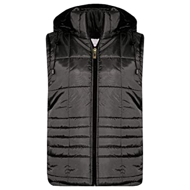 c61c0a82a29b A2Z 4 Kids® Kids Girls Boys Sleeveless Hooded Padded Quilted - Gilet  Quilted 506 Black