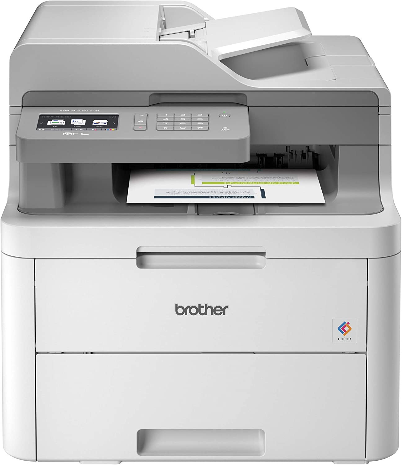 Amazon Com Brother Mfc L3710cw Compact Digital Color All In One Printer Providing Laser Printer Quality Results With Wireless Amazon Dash Replenishment Ready Electronics
