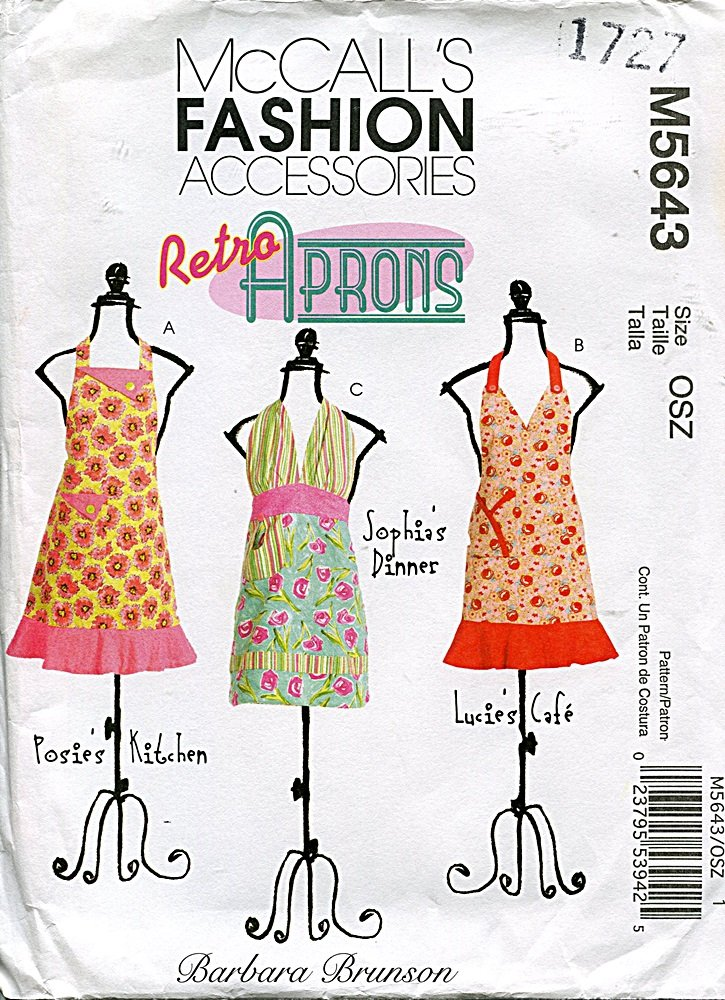 Amazon.com: McCall\'s Patterns M5643 Aprons, All Sizes