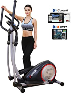 SNODE E20i Elliptical Machine, Electric Magnetic Training Machine with Digital Monitor and Bluetooth Function