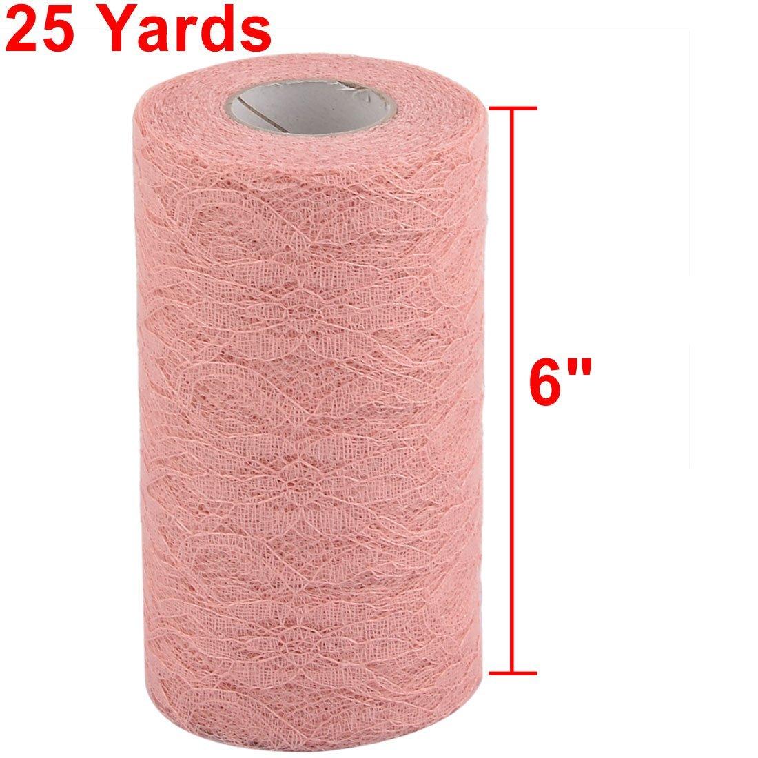 Amazon.com: Partido de Novia de Encaje eDealMax salón de banquetes de bricolaje decoración de tul carrete Rollo DE 6 pulgadas x 25 yardas Coral Pink: Health ...