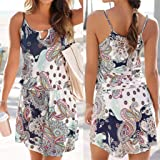 Quelife Dress for Women Casual Bohemia Printed