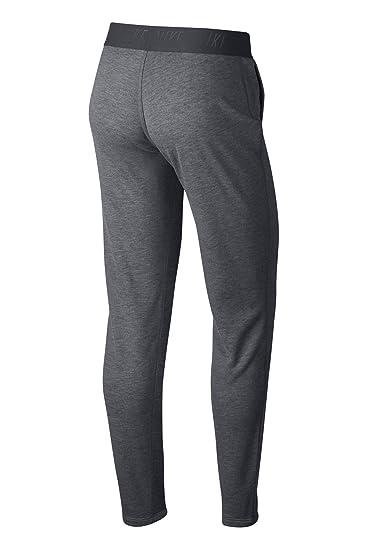 Nike W Nk Dry Tapered Pantalón, Mujer, Gris (Carbon Heather/Dark ...