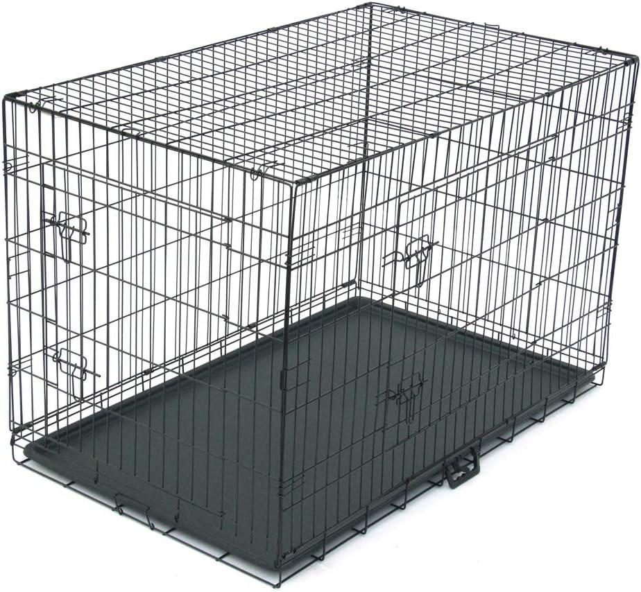Cimiva-48 Pet Kennel Cat Dog Folding Steel Crate Animal Playpen Wire Metal
