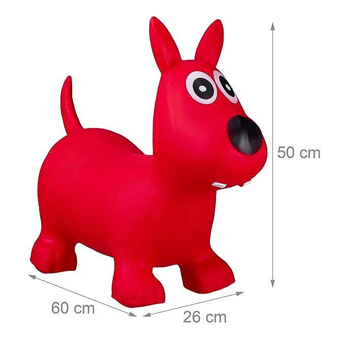 Relaxdays- Saltador Hinchable Perro para Niños hasta 50 Kg sin BPA ...