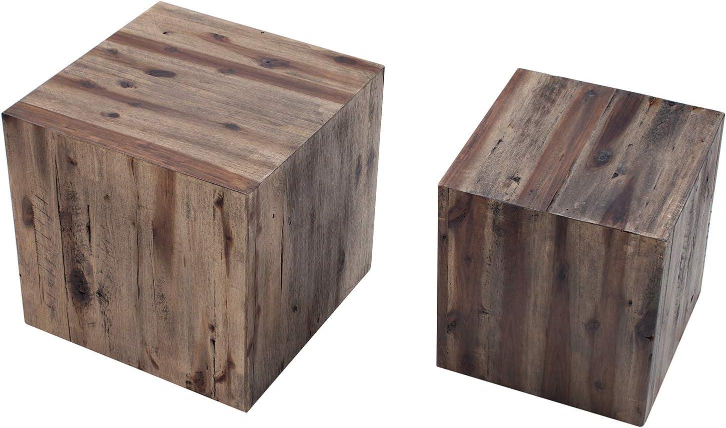 DuNord Design Catan - Juego de 2 mesas auxiliares (madera maciza), diseño vintage: Amazon.es: Juguetes y juegos