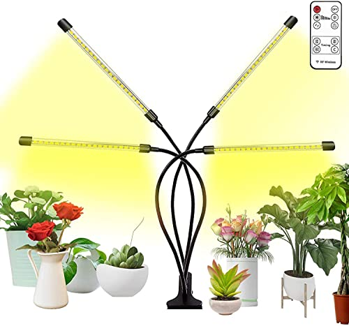 Bseah Grow Light Plant Lights for Indoor Plants with Wireless Remote Control, Auto ON Off Full Spectrum Plant Lights with 2 8 12H Timer, 9 Dimmable Lightness, Full Spectrum Plant Growing Lamps