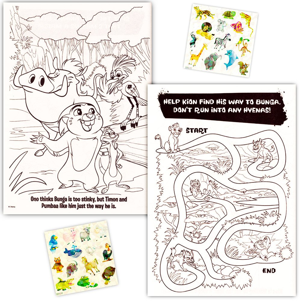 Lion guard coloring book - Amazon Com Lion Guard Coloring Book Super Set 2 Lion Guard Books 2 Safari Sticker Sheets Toys Games