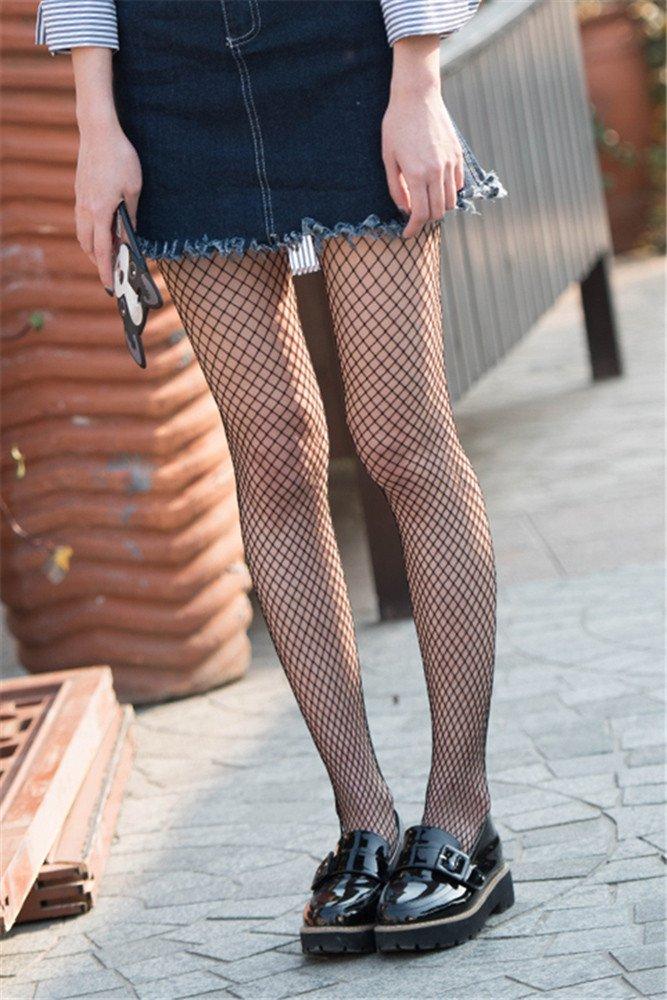 QER-MEDIAS,medias de compresion Las redes de calcetines negros de rejilla grabado calcetines hembra medias, calcetines de seda, formando los calcetines , pequeña cuadrícula Giq