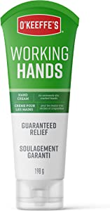 O'Keeffe's Working Hands Hand Cream for Extremely Dry, Cracked Hands, 7 Ounce Tube (198g), white (EN/FR)