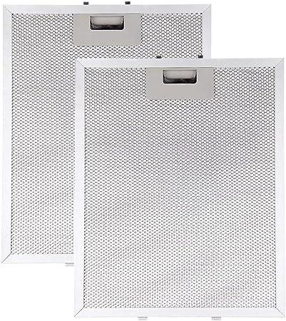 MultiWare - Filtro de ventilación para campana extractora de aluminio, universal, lavable, corte: Amazon.es: Hogar