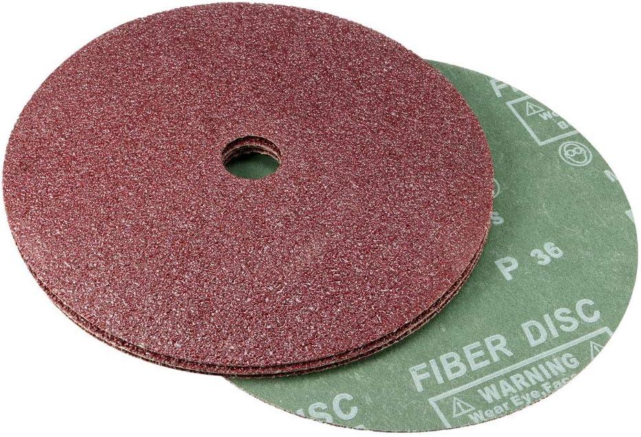 5 Pack sourcing map 7-Inch x 7//8-Inch Aluminum Oxide Resin Fiber Discs Center Hole 36 Grit Sanding Grinding Discs