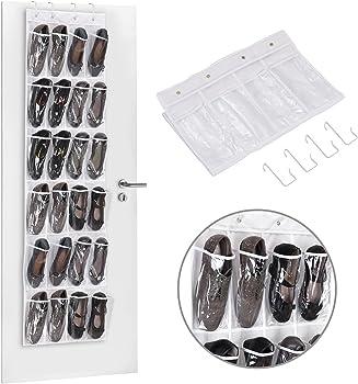 MaidMAX 24-Pocket Hanging Shoe Storage Rack