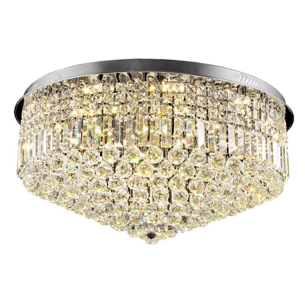 Office Ceiling Lights Round Crystal Chandeliers Y Led Ceiling Lamp Restaurant Bedroom Lamp Living Room Decorative Lighting Lamp Black 505031cm, 606031cm Energy Level A+++ (Size : 606031cm) by Xk-Ceiling Lights
