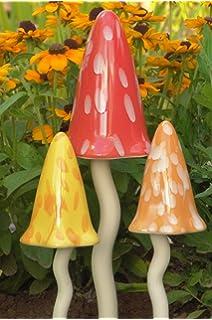Giftpilz Dekofiguren Aus Keramik Klingende Pilze Garten Amazonde