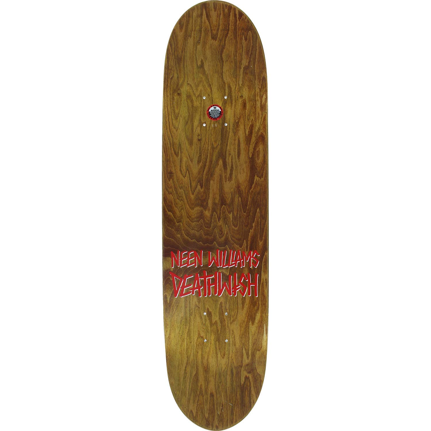 Deathwish Williams Beast Slayer Skateboard Deck 8.0 Deck ONLY Bundled with Free 1 Hardware Set