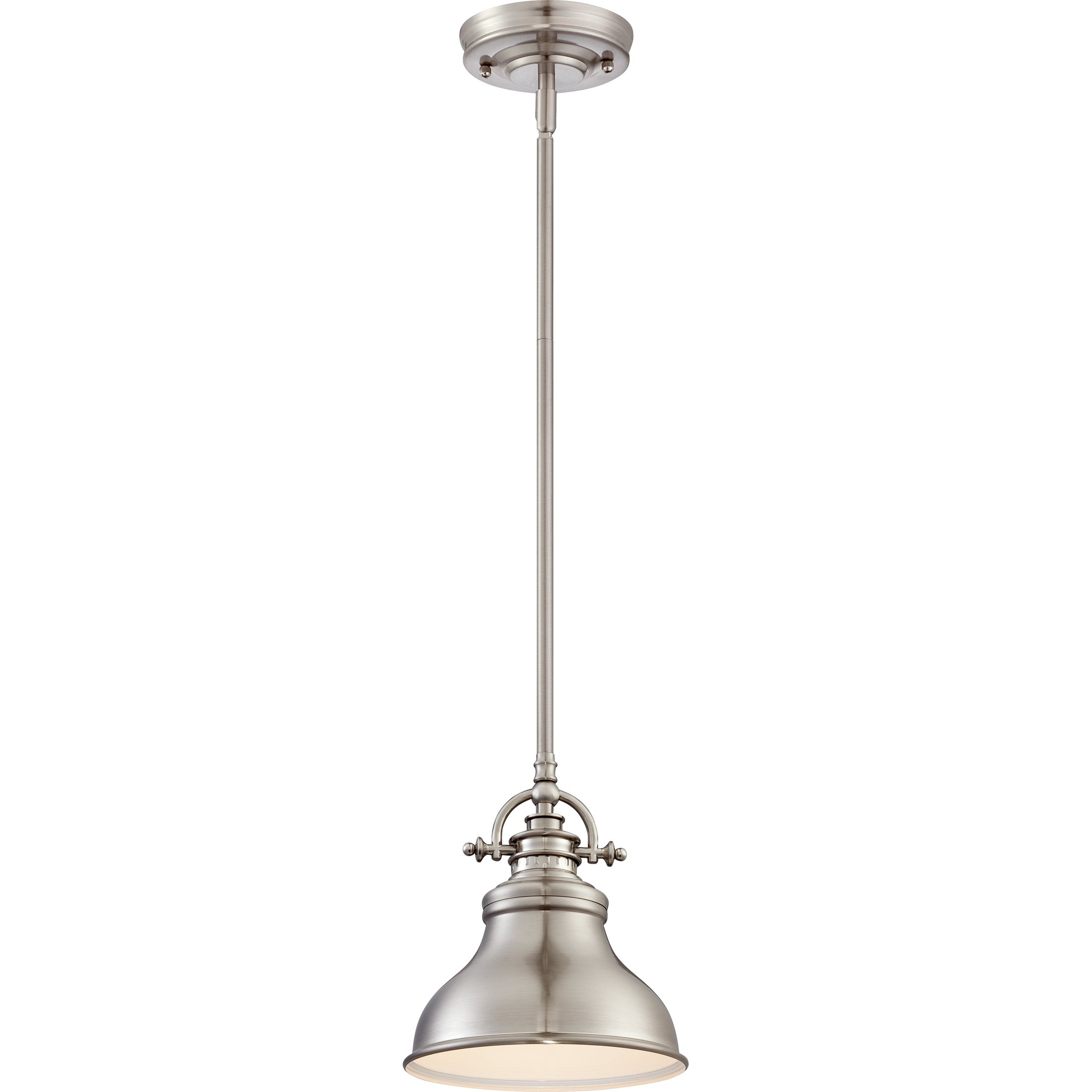 Quoizel ER1508BN 1-Light Emery Mini Pendant in Brushed Nickel
