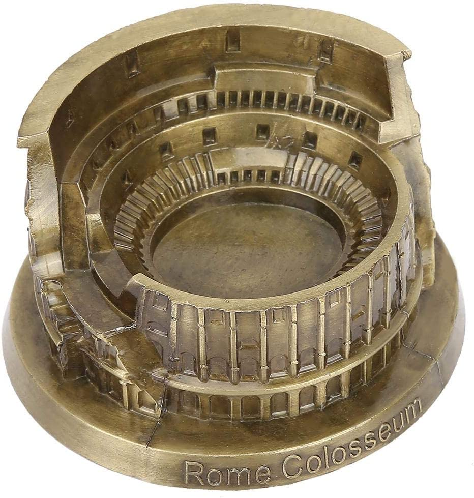 Estatua del Coliseo Romano en Miniatura de Metal Artificial para el hogar Artesan/ía Artesan/ía Decoraci/ón de Escritorio Regalo Sheens Modelo del Coliseo de Roma
