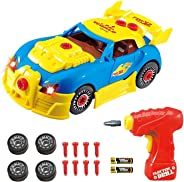 Think Gizmos Take Apart Toy Racing Car - Construction Toy Kit for Boys and Girls Aged 3 4 5 6 7 8 - Build Your Own Car Kit V