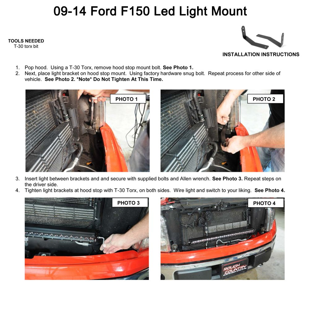 Ohmu Pair 2009 2014 Ford F 150 Front Hidden Bumper Instead Of Using A Switch To The Parking Lamps Or Others As Shown Mounting Brackets Mounts Fit 30 Inch Single Row Straight Led Work Light Bar Accessories