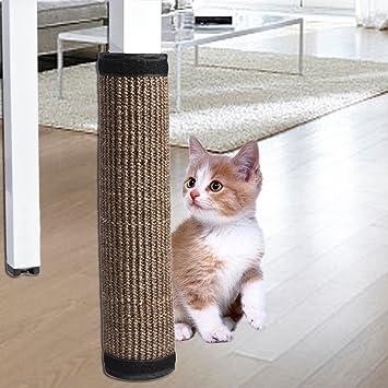 Rascador para uñas de gatos, protector de columnas y patas de mesas, sin necesidad de correas.