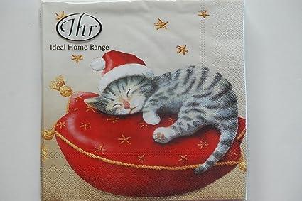 Natale Tradizionale Inglese Ihr Tovaglioli Di Carta Natalizi Motivo