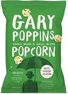 product image for Gary Poppins Popcorn - Gourmet Handcrafted Flavored Popcorn - White Cheddar Jalapeño (1oz) - 10 Pack