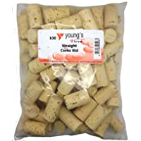 100 NEW PLAIN STRAIGHT CORKS FOR WINE HOME