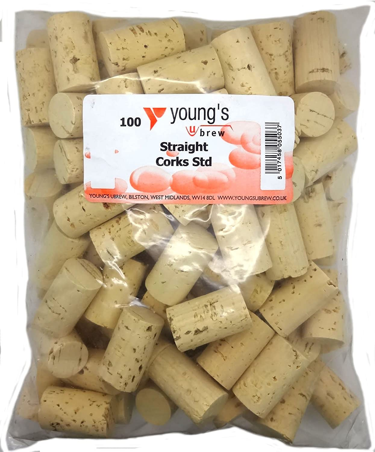 100 NEW PLAIN STRAIGHT CORKS FOR WINE HOME WINEMAKING YOUNGS