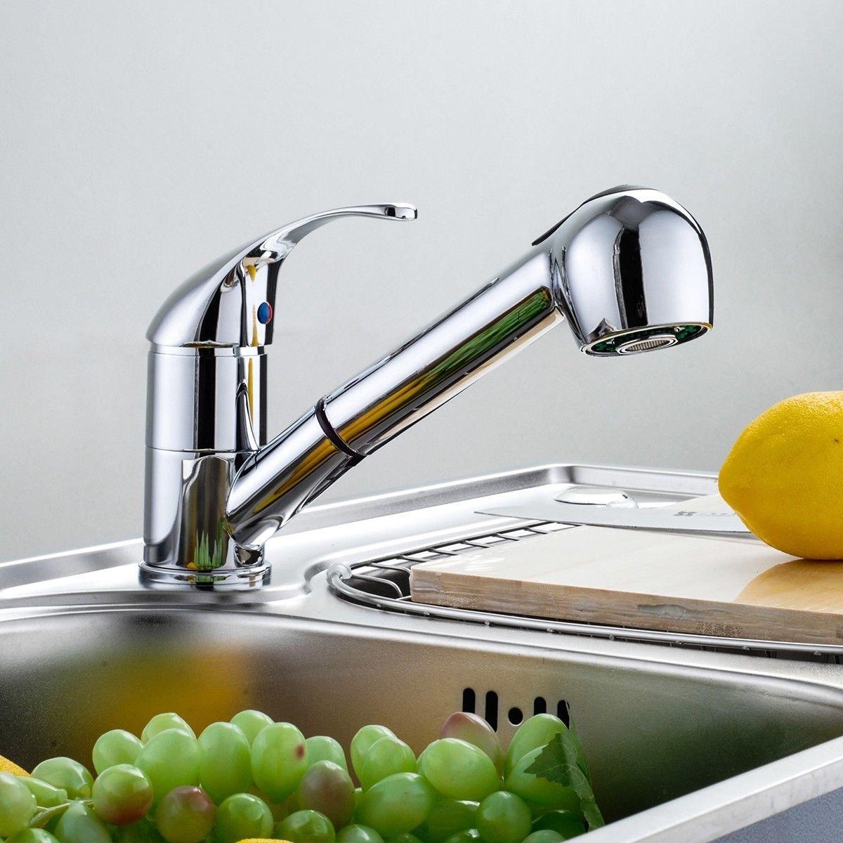 Amazon.com: HPD Swivel Spout Kitchen Single Handle Pull Out Faucet ...