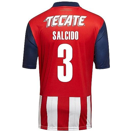 timeless design 6fe0f e41c7 Amazon.com: PUMA Salcido #3 Chivas Guadalajara Home Soccer ...