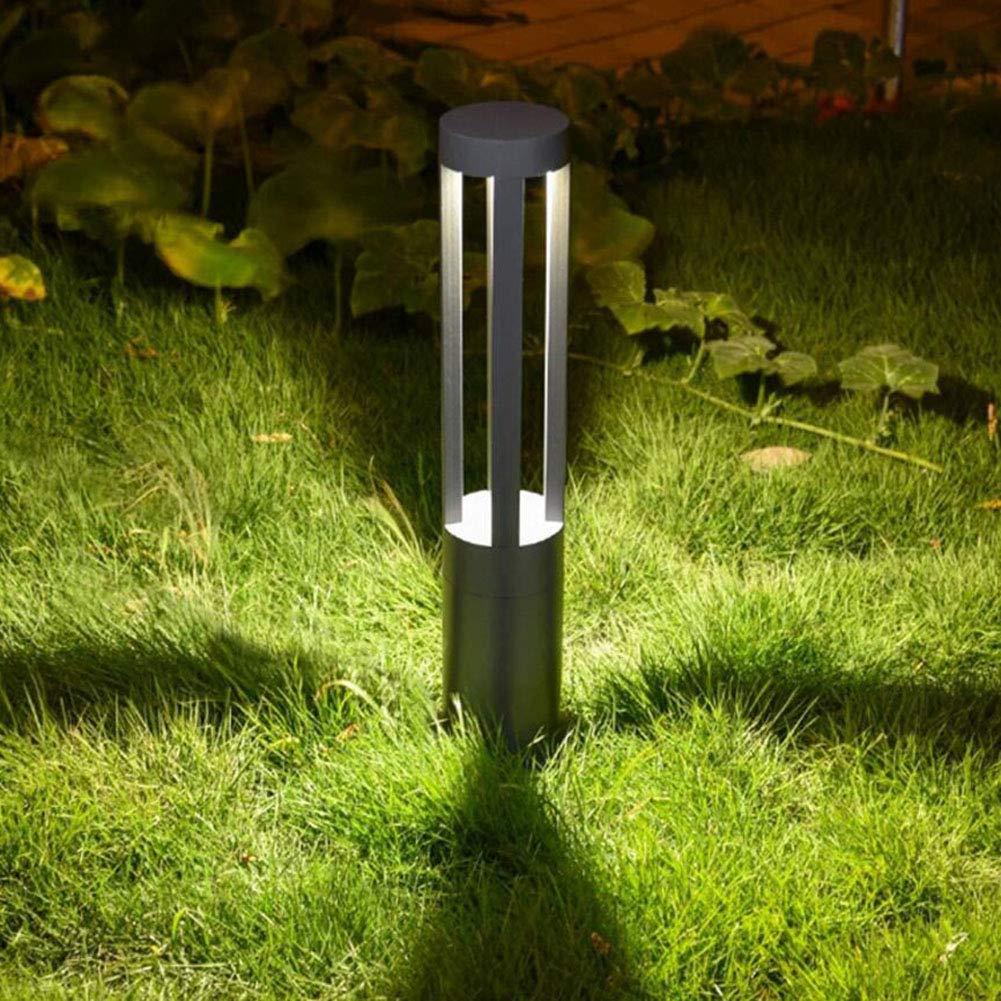 Rasenleuchte, LED Outdoor wasserdicht Garten Lawn Light Landschaftslicht Gemeinschaftsgarten Villa Square Road Path Dekorative Beleuchtung,grau,30cm