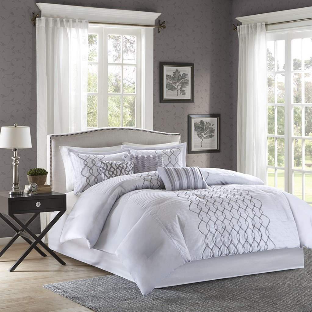 comforter bath free overstock royal bedding shipping product silver today set bloom hotel