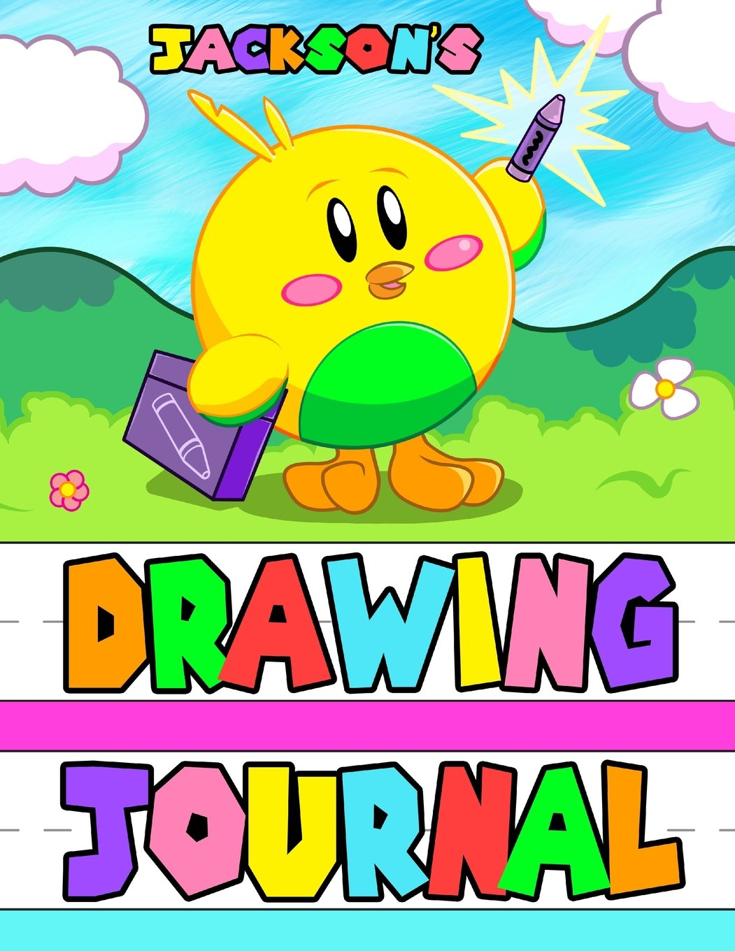 "Download Jackson's Drawing Journal: Personalized Book with Child's Name, Primary Drawing and Writing Journal, Including 65 Pages with 1"" Ruled Lines and a ... or Anytime Gift for Kids, 8 1/2"" x 11"" pdf epub"