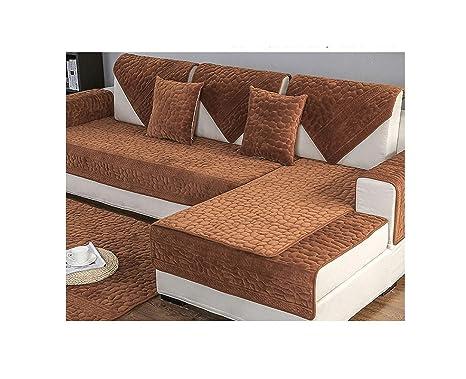 Amazon.com: Funda de sofá para toalla, funda de felpa gruesa ...