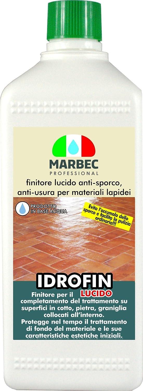Marbec - IDROFIN LUCIDO 1LT | Produit de finition anti-saleté, anti-usure poli à base d'eau pour les matériaux en pierre anti-usure poli à base d'eau pour les matériaux en pierre
