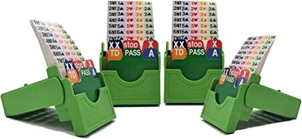 available in sets of 4 Bridge Bidding Boxes