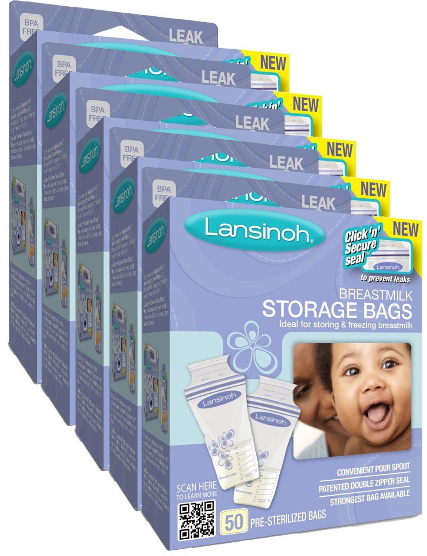 Lansinoh Breast Milk Storage Bags, 50-Count LA-008