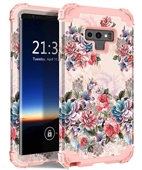sports shoes 1e9df 6fa30 Galaxy Note 9 Case, Hocase Shockproof Heavy Duty Protection Hard Plastic  Cover+Silicone Rubber Case Dual Layer Protective Phone Case for Samsung ...