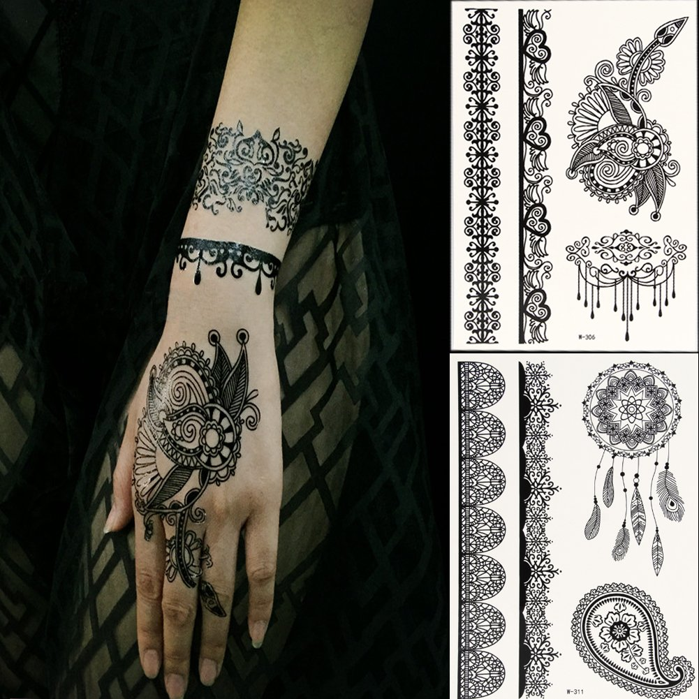 Henna Style Tattoos Lace Tattoo: Henna Tattoo: Amazon.com