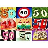 DigitalOase Einladungskarte 50. Geburtstag 50. Jubiläum A5 Geburtstagskarte  1 Klappkarte 1 Kuvert #LETTERS