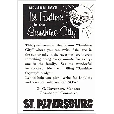 Amazon com: RelicPaper 1956 St  Petersburg, Florida: Funtime