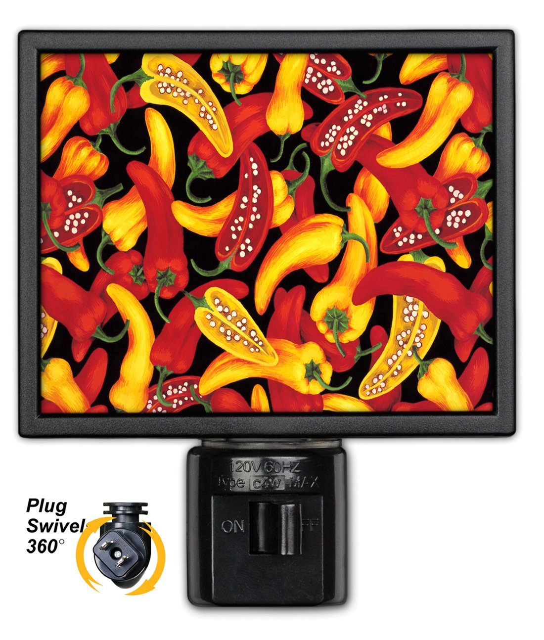 Art Plates NL-216 Red /& Yellow Peppers Night Light