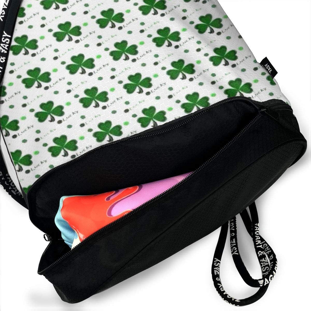 Drawstring Backpack Shamrock Rucksack