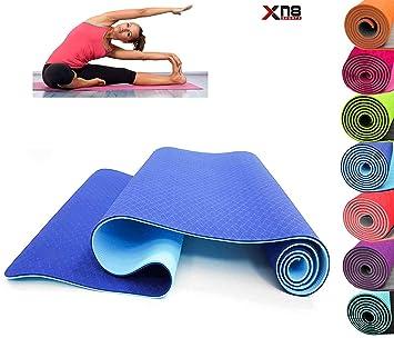 Esterilla de yoga de TPE suave, antideslizante, extragruesa ...