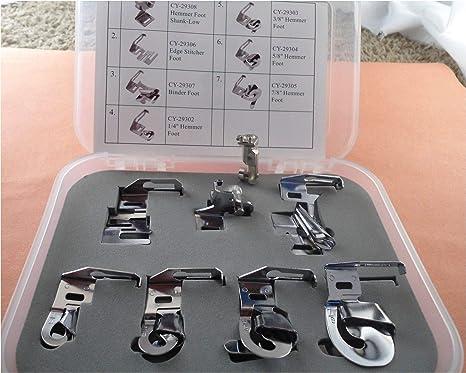 NGOSEW prensatelas de dobladillo ancho para máquinas de coser Bernina de estilo antiguo: Amazon.es: Juguetes y juegos
